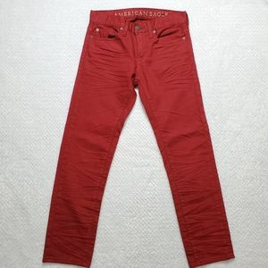 American Eagle Outfitters/Red Skinny Jeans
